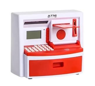 Safety Electronic Digital Piggy Bank Mini ATM Money Box Password Saving Children Gift(Red )