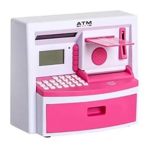 Safety Electronic Digital Piggy Bank Mini ATM Money Box Password Saving Children Gift(Pink)