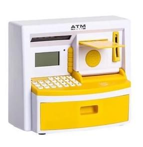 Safety Electronic Digital Piggy Bank Mini ATM Money Box Password Saving Children Gift(Yellow )