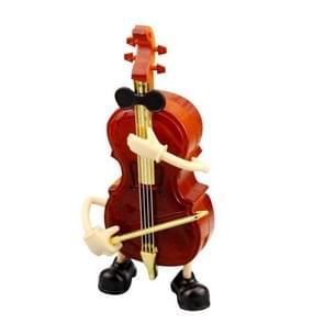 Plastic Violin Shape Music Box Movement Clockwork Music Box Gift(63245)