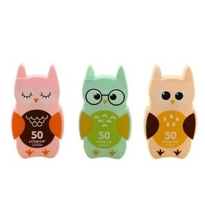 BC772735 2PCS Cute Owl Decoration Correction Band School Supplies Student Stationery Gift( Random Color Delivery )