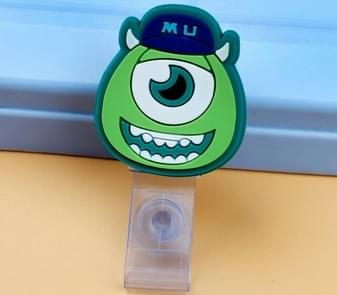 3PCS Monster University Transparent Retractable Badge ID Card Clip Badge Lanyard Card Holder 6