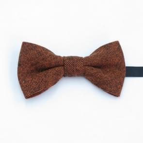 Kinderen effen kleur wol stof Bow-knoop Bow tie (bruine stippen)