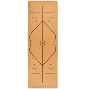 183X68cm natuurlijke kurk TPE yoga mat fitness matten Pilates antislip Yogamatten (bruin)