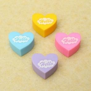 12 stuks mini schattig hart gum school supplies student briefpapier kinderen geschenken