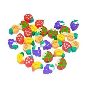 N8115  100 PCS Cute Mini Fruit Shape Eraser Student Learning Stationery Children Creative Gifts