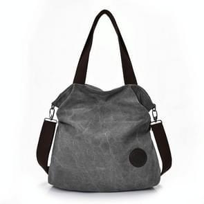 Vrije tijd canvas vrouwelijke Solid Shoulder Fashion handtassen (grijs)