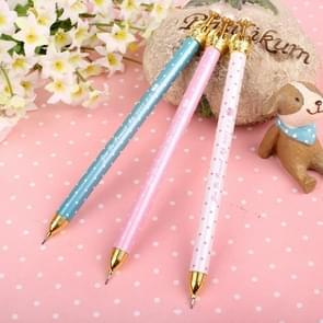 3 stuks creatieve student briefpapier kroon gel pen cute verse mechanische potlood willekeurige kleur levering  geschreven: 0.7 mm