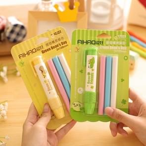 8238 2PCS Creative Cartoon Replaceable Refill Eraser Office Supplies Student Stationery Random Color Delivery
