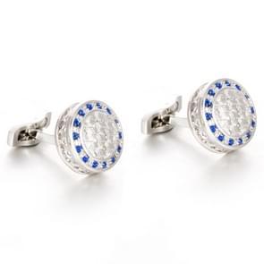 French Cufflinks Round crystal cufflinks