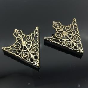 1 paar kroon holle patroon kraag buckle (oude brons)