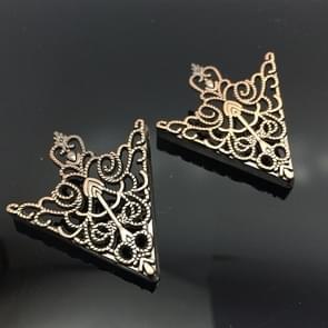 1 paar kroon holle patroon kraag gesp (goud)