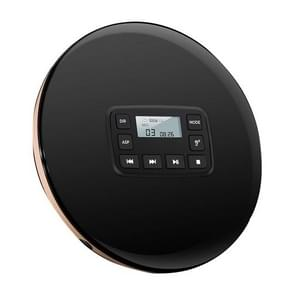 Compt Disc Headphone Jk Music CD Player Portable With Electronic Skip Shockproof Round Electric Protection HIFI oustic(Black)
