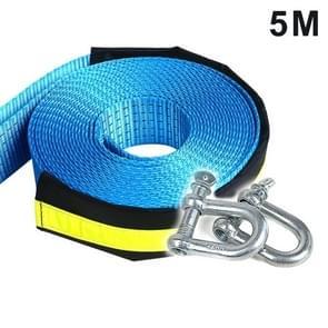 8 ton 5 meter veiligheid auto Emergency helper Sleepkabel reflecterende touw riem met U-vorm haken (5M)