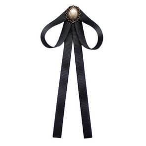 Professionele kraag zwart Bow tie shirt accessoires voor vrouwen (01 Pearl)