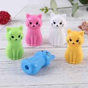 PS20 Cartoon Cat Plastic Pencil Sharpener Machine Kids Gift School Supplies Stationery, Random Color