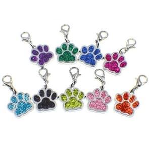 10 PCS Enamel Cat Dog  Bear Paw Prints Key Chain Jewelry Making