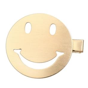 Metal Snap Hair Clips Smiley Face Hairdressing Tool(Silver smile)