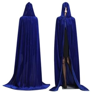 3 PCS Wizard Witch Prince Hooded Cloak Robe Halloween Cloak Costumes, Size:M(Blue)