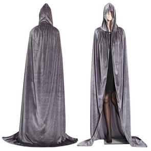 3 PCS Wizard Witch Prince Hooded Cloak Robe Halloween Cloak Costumes, Size:L(Gray)