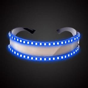 LED Glasses Luminous Party Classic Toys for Dance DJ Party Mask Costumes Props Gloves(Blue glow)