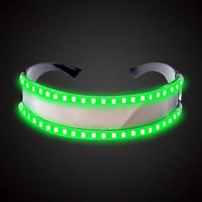 LED Glasses Luminous Party Classic Toys for Dance DJ Party Mask Costumes Props Gloves(Green glow)
