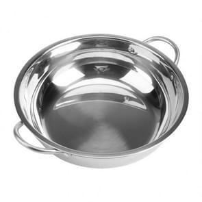 5 stuks RVS hot pot dikke niet-magnetische duidelijk soep pot Double-eared hot pot  grootte: 30cm