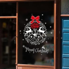 2 PCS Christmas Decoration Elk Santa Window Glass Sticker