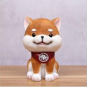 Brown Cute Resin Dog Piggy Bank Box Cute Gift Home Decoration, Size:Small