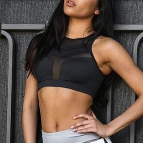 Hoge intensiteit sport beha yoga schoonheid terug Dames Fitness Running schokbestendig verzamelen vest  maat: L (zwart)