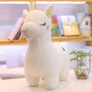 3 PCS Creative New Animal Beast Alpaca Doll Plush Toy Grass Mud Horse Children Birthday Gift Doll Machine Doll, color:white(30cm)