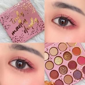16-kleuren Eye Shadow Orange Pink Purple Earth Color Pearl Matte Sequins Eyeshadow Tray