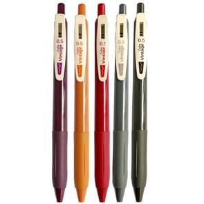 Druk op de Retro Gel Pen Student Hand Account Multicolor Painting Morandi Color Marker Pen (Court Color(5PCS/Box))