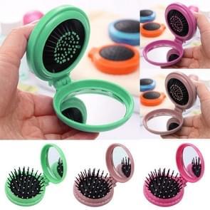 10 PCS Portable Round Pocket Small Size Travel Massage Folding Comb Hair Brush Random Color