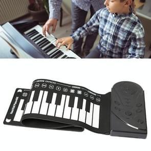 49-toets draagbare handgewalste piano met hoorn kinderen beginners om elektronische piano te oefenen (elegant zwart)