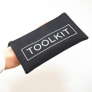 Oxford doek eenvoudige kit reparatie tool opslag rits zak  grootte: 19 x 11cm