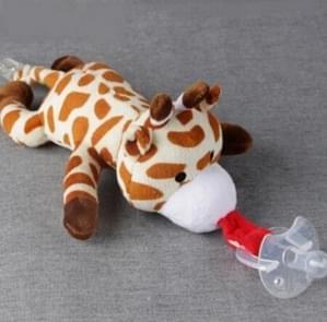Baby jongen meisje dummy fopspeen keten clip pluche dier speelgoed fopspeen tepels houder (niet inclusief fopspeen) (Fawn)