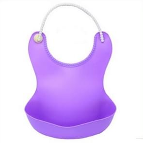 Baby Infant Toddler Waterproof Silicone Bib Infants Feeding Lunch Roll-up Apron(Purple)