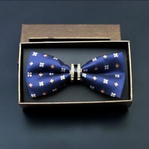 Polyester Yarn Diamond Bow Tie Metal Bow for Men(Classic Plum)