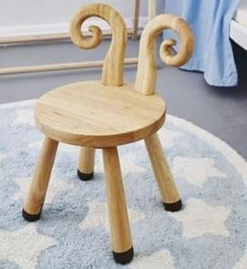 Oak Animal Kids Chair Home Wooden Stool Nordic Style Children Room Decoration Chair(Sheep without  Cushion)