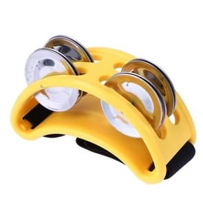 Aluminium percussie Cajon Foot Bell  grootte: 10 x 8 x 4cm (geel)