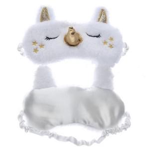 Cute Cartoon Unicorn Pattern Sleep Children Eye Mask Shading Goggles(White)
