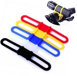 5 stuks siliconen band Mountain Road fiets fakkel telefoon zaklamp elastische bandage fiets licht mount houder (geel)