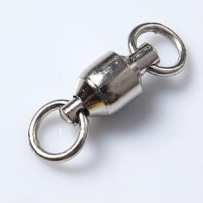 5 stuks Parrot voet ring accessoires universele rRing RVS Ffishing Gear accessoires karakter dubbele ring gelast lager swivel ring  specificatie: Length30mm (zilver)
