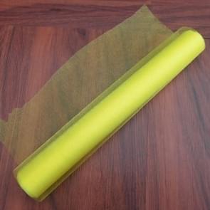 3 PC'S Tulle Roll Crystal stof organza Tule Roll spool decoratie voor de partij van de verjaardag van de bruiloft  grootte: 4.5 mx48cm (geel)