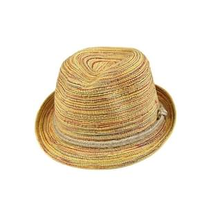 Colorful Striped Foldable Straw Hat Topee Bohemia Cap(Bohemia)