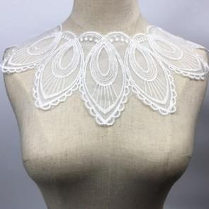 Lace Fabric Embroidery Collar DIY Clothing Accessories(White)
