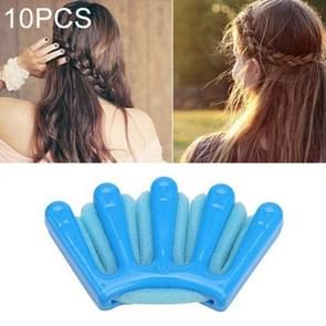 24 PCS Hair Braid Style Sponge Plait hair Twist Styling Braiding Tool Holdr Clip(Blue)
