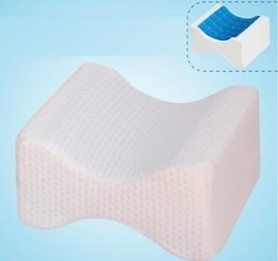 Orthopedic Memory Foam Knee Wedge Pillow for Sleeping Sciatica Back Hip Joint Pain Relief Contour Thigh Leg Pad Support Cushion The reversible gel+white