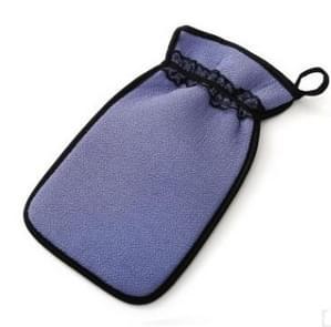 2 PCS Shower Bath Gloves Exfoliating Wash Skin Spa Massage Bathroom Cleaning Tools(Purple)